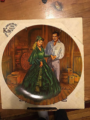 """Edwin M. Knowles Fine China Plate """"Scarlett's Green Dress"""" Gone with the Wind"""