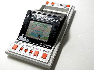 Bandai LCD Game Double Play Police & Gang (Cop vs Thief) Made in Japan 1984