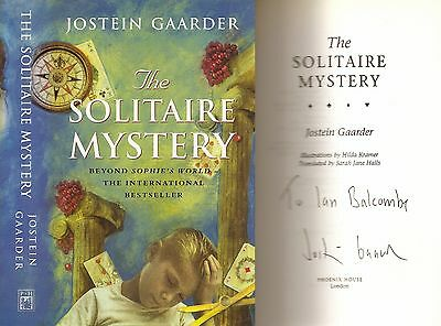 Jostein Gaarder - The Solitaire Mystery - Signed - 1st/1st