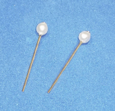 Dreamz WHITE PEARL GP STUD EARRINGS Doll Jewelry VINTAGE REPRO made for Barbie