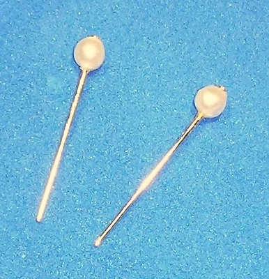 Dreamz CREAM WHITE PEARL STUD EARRINGS Doll Jewelry VINTAGE REPRO for Barbie