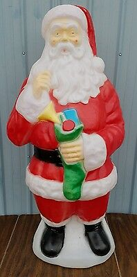 "Large Vintage Empire Santa Christmas Blow Mold  41"" Tall - Great Colors"