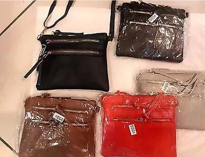 Wholesale Joblot Ladies Shoulder/body Bags Mix Styles Colors 6pcs Mix