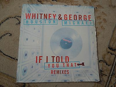 "Whitney Houston & George Michael If I Told You That RARE Promo 12"" Single"