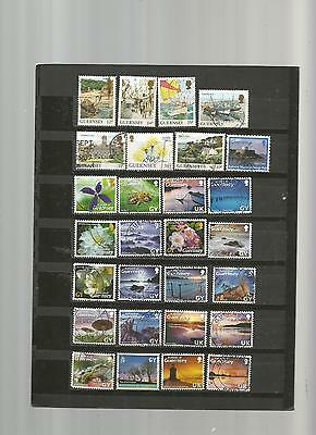 75 timbres iles du channel obliteres lot reference 01082016 cha1111