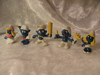 Smurfs Lot Of 5 Schleich Peyo Bully See Pictures Lot D