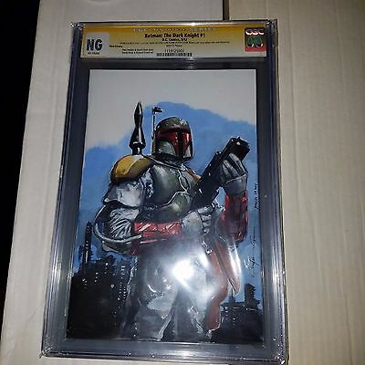 Star Wars, Boba Fett Sketch by Clayton Crain, CGC Signature Series NG, Batman