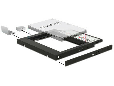 Delock Slim SATA 5.25″Installation Frame for 1 x 2.5″ SATA HDD / SSD up to 9.5mm