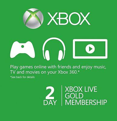Xbox Live Gold 48hr 2 Day Trial Membership - EMAILED TO YOU SAME DAY!! - X BOX