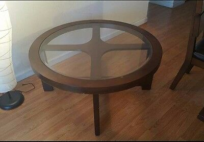 Fabulous Round Cherry Wood Coffee Table 139 00 Picclick Dailytribune Chair Design For Home Dailytribuneorg