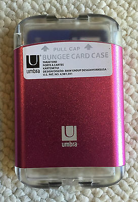 *NEW* Umbra Bungee Business Card Case Wallet Pink 460330-246