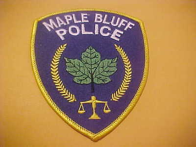 Maple Bluff Wisconsin Police Patch Shoulder Size New Type 3