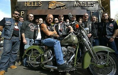 HELLS ANGELS BOSS Sonny Barger His Oakland Bar Hazey Glossy 8x10
