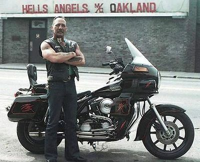Hells Angels Boss Sonny Barger In Oakland California 8.5x11 Amazing Photo