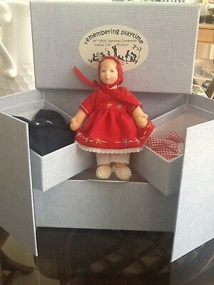 kathe kruse UFDC 55th Convention doll & case/ outfits. Adorable mini Doll!
