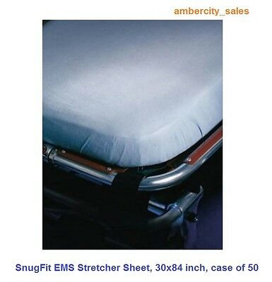 SnugFit EMS Stretcher Sheets, Size: 30 x 84 inch, Case of 50