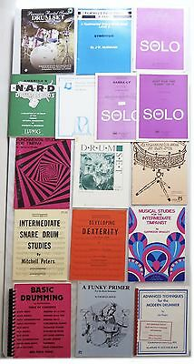 Drumming, Drums, Snare, Timpani Studies Instructional Books(Lot of 16) FREE SHIP