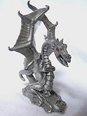 Spoontiques Miniature Pewter Dragon w/ Prism Cut Crystal MR890 -Free Shipping