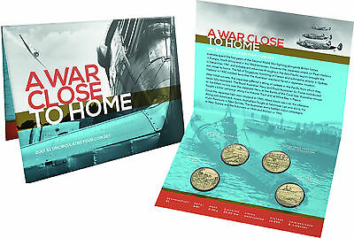 2017 A War - Close to Home - Uncirculated Four Coin $1 set..
