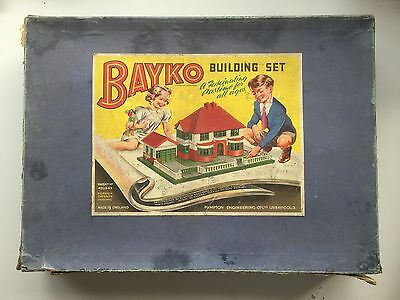 Bayko Building Set 1960s Construction Toy Parts Pieces Boxed