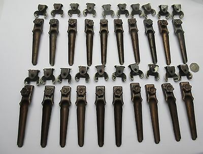 Vintage old rusty metal stair carpet clips x 20 .