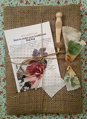 Traditional Hessian Rag Rug Kit (Regular)