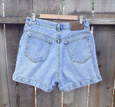 Calvin Klein Vintage 90's Jean Denim Shorts Women's High Waist Grunge 10 12 30""