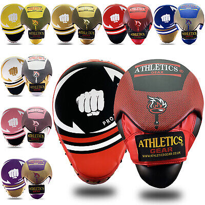 Focus Pads Hook & Jab Mitts Kick Boxing MMA Strike Punch Bag Kick Curved