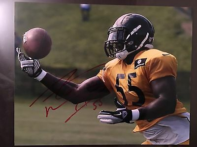 Arthur Moats  AUTOGRAPH PITTSBURGH STEELERS Hand Signed 8x10 Photo