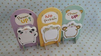 Cute animals memo pad kawaii Sticky Post It Note japanese back to school tab