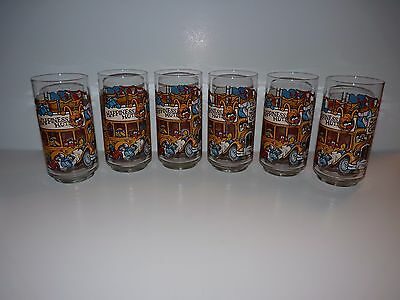 Lot of 6 1981 McDonalds The Great Muppet Caper Collector Glasses