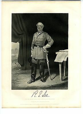 ROBERT E. LEE, Confederate General/Army of Northern Virginia, Engraving 1866