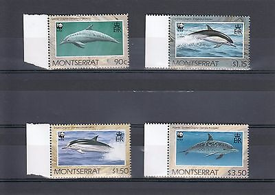 Timbre Stamp  4  Montserrat Y&t#743-46 Dauphin Dolphin Neuf**/mnh-Mint 1990 ~A03