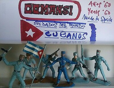 Cuban toy soldiers by COMANSI 60' made in Spain.