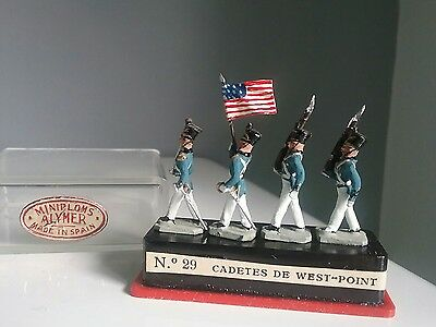 West Point cadets - Vintage toy soldiers miniploms made in Spain by Alymer