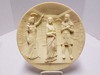 Aida 1979 Collection Issue La Scala Grand Opera Ivory Alabaster Plate