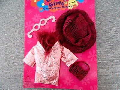 Groovy Girls Doll Clothes NEW Pinkadelic Groovy Gear Deluxe Coat Hat