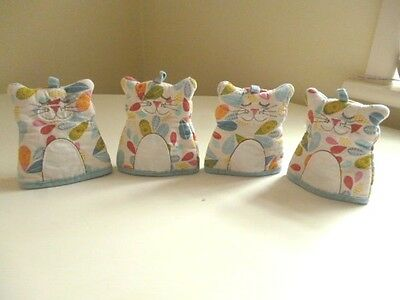 Set of Four 'CAT' Egg Cosies by ULSTER WEAVERS ~ Adorable & Cheeky