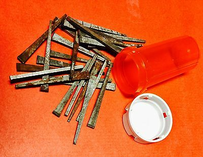 "Square Cut Nails ~ 2 1/4"" ~ 2 Doz (24) ~ Antique ~ Nice For Restoration Projects"