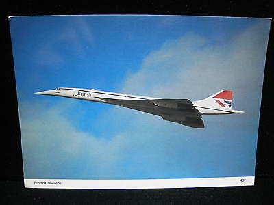 BRITISH AIRWAYS CONCORDE Early BA Livery Vintage Airplane Aviation AK Postcard