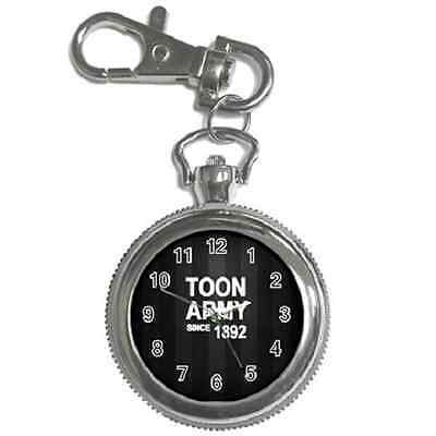 Toon Army Since 1892 Newcastle Round Keychain Watch **great Gift Item**