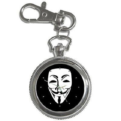 Anonymous Hackers Guy Fawkes Face Keychain Watch **great Gift Item**