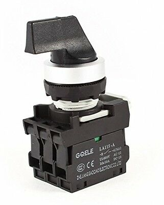 Ui 660V Ith 10A Dual Selector Position 2NC DPST Locking Rotary Switch