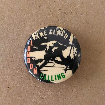 The Clash London Calling Vintage Pin Button