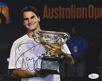 Roger Federer Signed Tennis 8X10 Photo Jsa Authenticated # 3