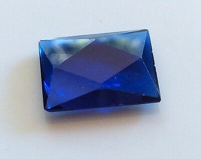 EMERALD/SQUARE CUT SHAPE SYNTHETIC SAPPHIRE 16x11MM FACETED 1 PC LOOSE GEMSTONE