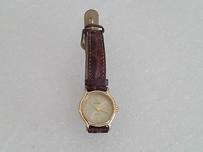 peugeot vintage genuine leather quartz watch *needs battery* - $8.00