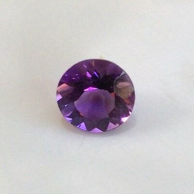 Round Cut Shape Natural Amethyst 7Mm Faceted 1 Pc Loose Gemstone
