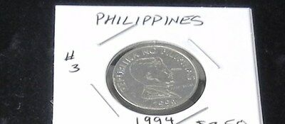 #3 VERY EXCELLENT (ALMOST UNCIRCULATED) Philippines 1994 1 PISO Coin