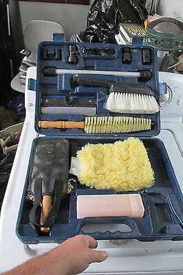 Car Detail Kit Polisher Shames Power Wang Squeegee in Hard Case